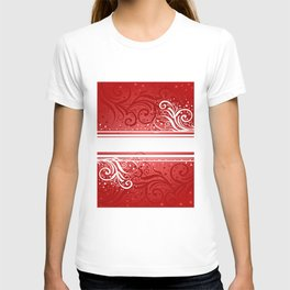 Abstract red-white background T-shirt