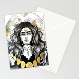 Moon Witch Inktober Stationery Cards