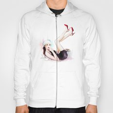 girl in red shoes Hoody