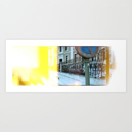 Stained Street  Art Print