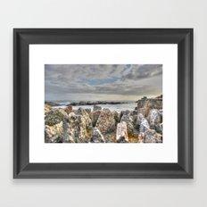Sunset at shore Framed Art Print