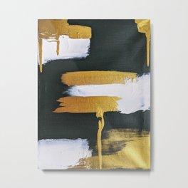 dark green, gold and white 2 Metal Print