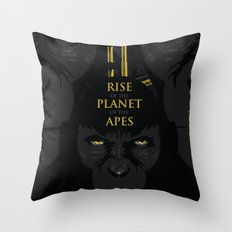 Rise of the Planet of the Apes Throw Pillow