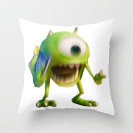 Mike Wazowski Meme Throw Pillow