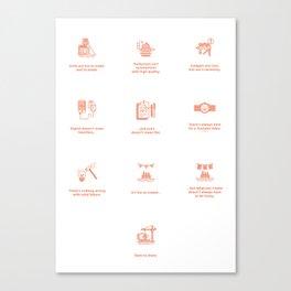 Design Commandments (all) Canvas Print