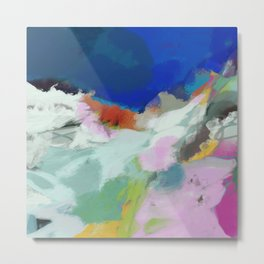 blue sky landscape abstract Metal Print