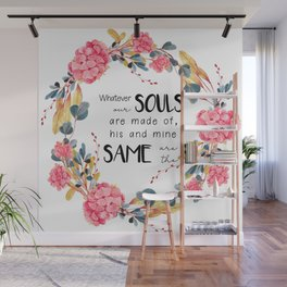 Romantic Emily Bronte Quote Wall Mural