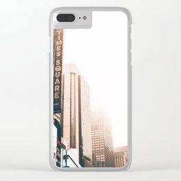 Time Square Clear iPhone Case