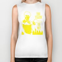 taxi driver Biker Tanks featuring Taxi driver art by Buby87
