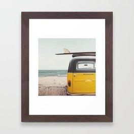 Summer surfing Framed Art Print
