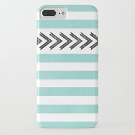 ARROW STRIPE {TEAL} iPhone Case