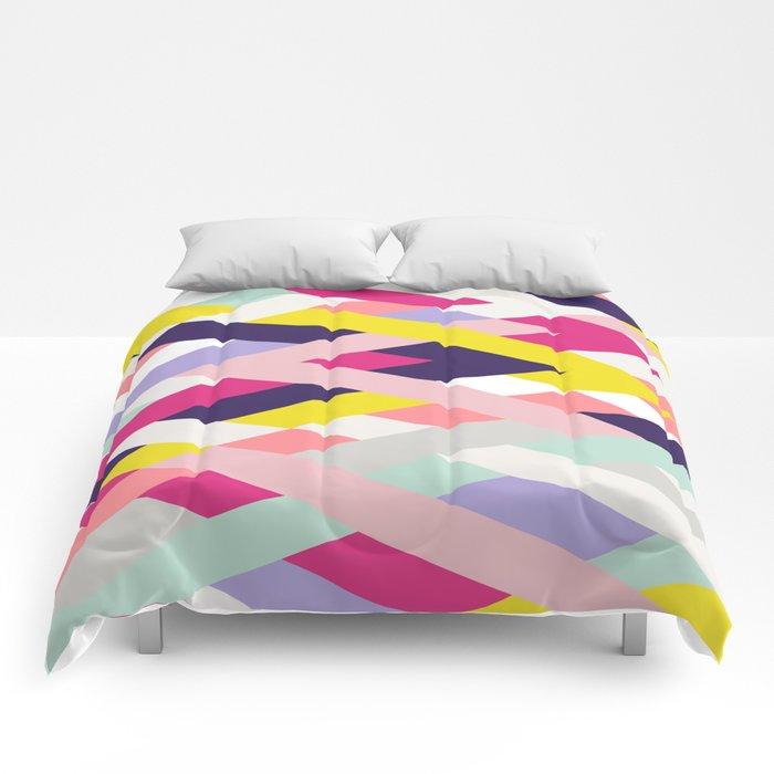 Smart Diagonals Blue Comforters