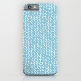 Hand Knit Sky Blue iPhone Case