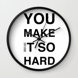 Disco Moment 'So Hard' Wall Clock