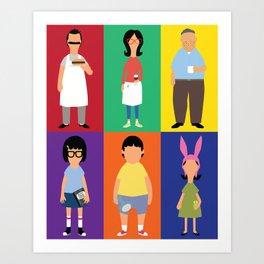 Bob's Bugers Characters Art Print