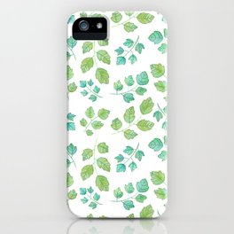 Summer Leaf Watercolor iPhone Case