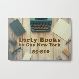 Dirty Books For Sale Metal Print