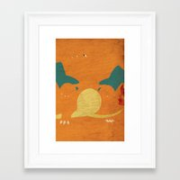 charizard Framed Art Prints featuring Charizard by JHTY