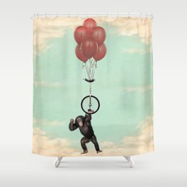 The Unicycle Incident Shower Curtain