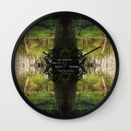 A Dream Within A Dream Wall Clock