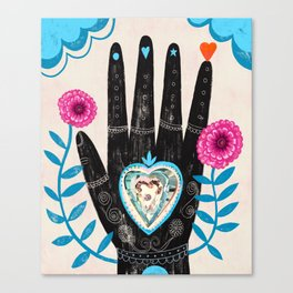 Heart in your hand Canvas Print