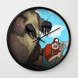 Man vs Nature Wall Clock