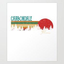 carbondale Illinois Retro Vintage Custom Funny Art Print