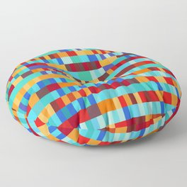Bach Invention (Fire and Iceberg Colours) Floor Pillow