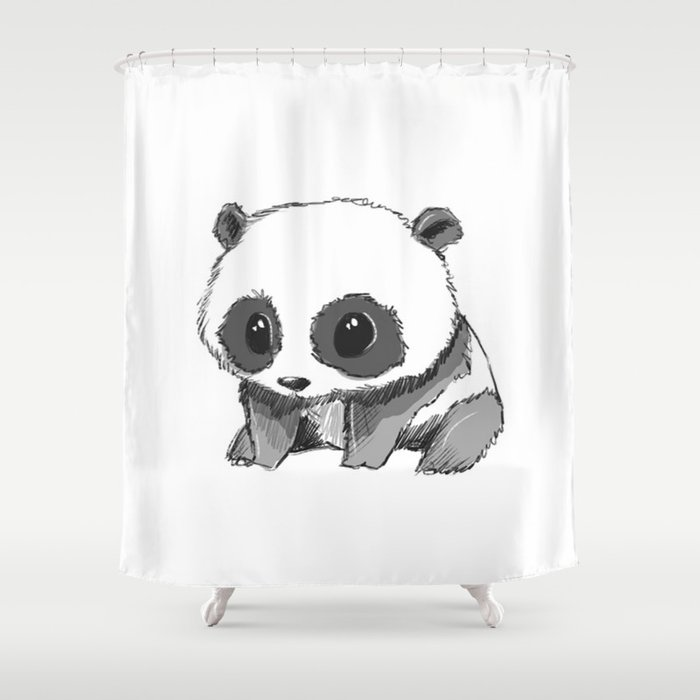 PANDA Shower Curtain By Andrealacuestaart
