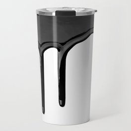 Black paint drip Travel Mug