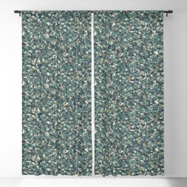 Green Beige Army Camouflage Blackout Curtain