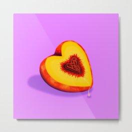 Soft as a Peach Metal Print