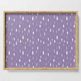 Stains Abstract Ultraviolet Serving Tray
