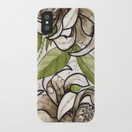 Two white Flowers iPhone Case