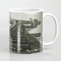 typewriter Mugs featuring typEwriTer by ''CVogiatzi.