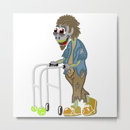 Zombie Walker out for a stroll! Metal Print
