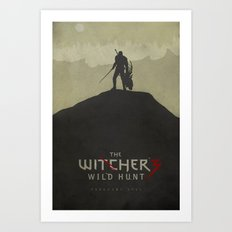 Hunting Evil - The Witcher 3: Wild Hunt Poster Art Print