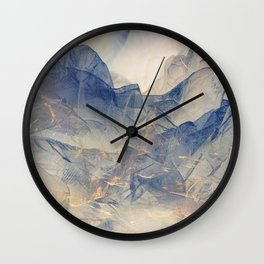 Tulle Mountains Wall Clock