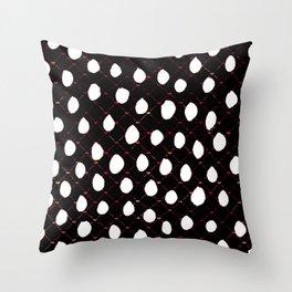 plaid polka Throw Pillow