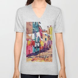 Laundry in Venice Unisex V-Neck