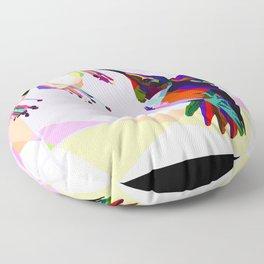 Humingbird colorful Floor Pillow