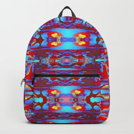 Pattern on blue  1 Backpack
