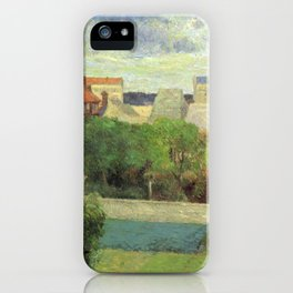 "Paul Gauguin - The Market Gardens of Vaugirard ""Les Maraîchers de Vaugirard"" (1879) iPhone Case"