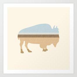 Buffalo on the Plain Art Print