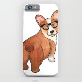Hipster Corgi iPhone Case