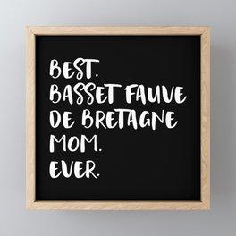 Basset Fauve de Bretagne Framed Mini Art Print