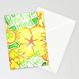 positive mind positive vibes positive life Stationery Cards