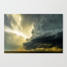 Supercell - Massive Storm Over the Great Plains Canvas Print
