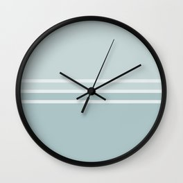 Lines Blue Grey Wall Clock