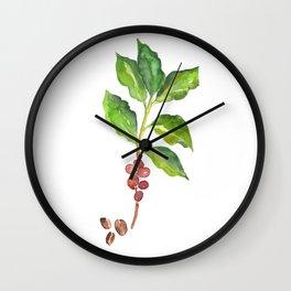 Coffee Tree Wall Clock